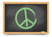 Blackboard Peace Symbol