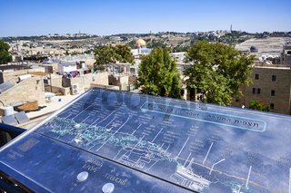 Jerusalem Israel. Hurva lookout on the old city