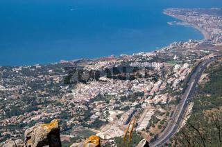 BENALMADENA, ANDALUCIA/SPAIN - JULY 7 : View from Mount Calamorro near Benalmadena Spain on July 7, 2017