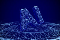 Concept of growing influence of Artificial Intelligence on life and business.
