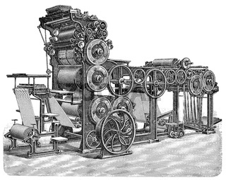 19th Century, cylinder rotary printing press, Marinoni