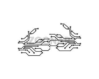 circuit board line concept design illustration