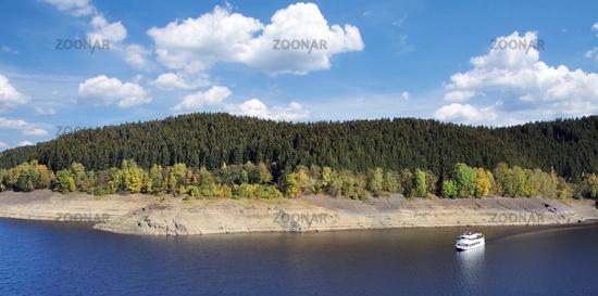 Okertalsperre Reservoir in Harz Mountain,lower saxony,Germany