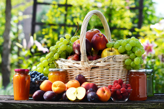 Fresh ripe organic fruits in the garden. Balanced diet.
