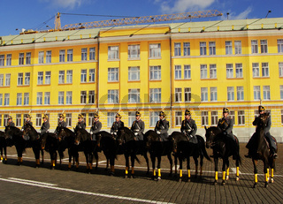 Changing of the Guards Ceremony, Moscow Kremlin Complex, Russia