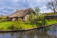 Typical dutch village Giethoorn in Netherlands