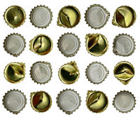 beer caps isolated on a white background