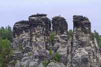 Rocks near the famous Bastei at Elbsandsteingebirge