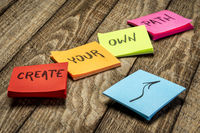 create your own path inspirational writing