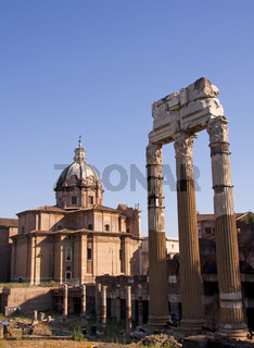 View with Forum Romanum in Rome