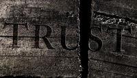 Broken trust concept