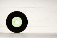 Old vintage vinyl record isolated