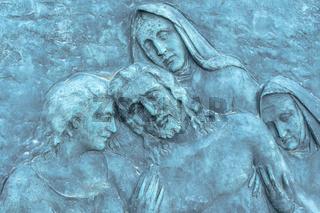 Low relief of jesus Christ