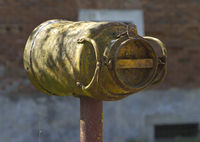 Old milk can used as a mail box