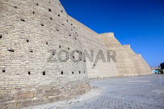 Walls of Ark, fortress, Bukhara, Uzbekistan