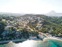 Javea coastline view from above, Spain