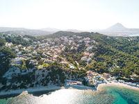Javea coastline view from above, Spain