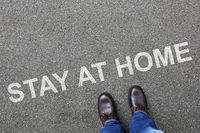 Stay at home corona virus coronavirus man business concept
