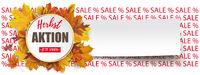 Emblem Autumn Herbstaktion Sale Percents Text Paper Header