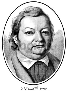 Justinus Andreas Christian von Kerner, 1786-1862, German poet, physician and medical writer,