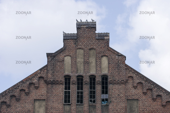 Gable of the machine hall from the coal mine Radpo