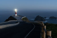Cabo Ortegal lighthouse at night