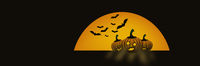 Illustration for halloween cards and web banners. With copy space