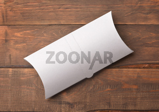 Top view of white blank doner kebab paper packaging