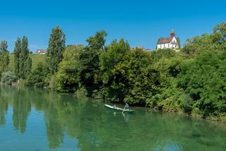 Rheinlandschaft bei der Klosterinsel Rheinau