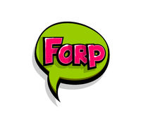 Comic text forp, frr logo sound effects