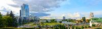 Panorama Minsk city center Belarus