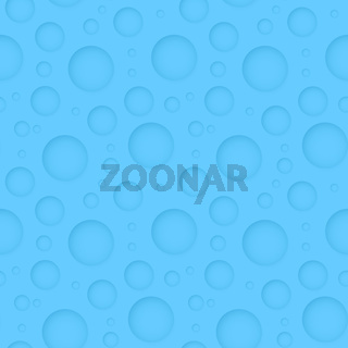 Seamless geometric blue pattern - abstract background with round holes