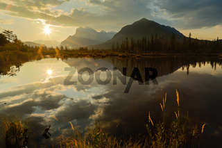 Autumn Sunrise at Vermilion Lakes