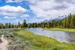An overlooking view of Grand Tetons NP, Wyoming