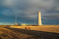 Gardur lighthouse in Iceland