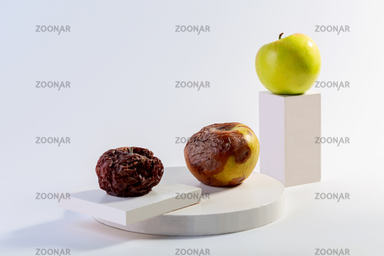 Physical and chemical changes of apples.