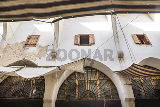 Detail of the walls at the traditional Souks in Tripoli, Lebanon