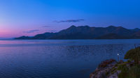 Skadar Lake in Montenegro sunrise panorama
