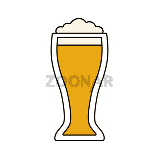 Glass of beer icon on white background. Stock Vector illustration for your graphic design.