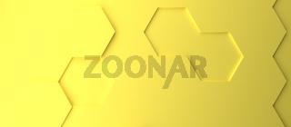Abstract modern yellow illuminating honeycomb background