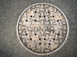 Vanted Manhole Sewer Main Cover Asphalt Side Street Water Drain