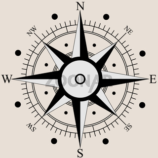 Wind rose compass flat symbols. Vector illustration.