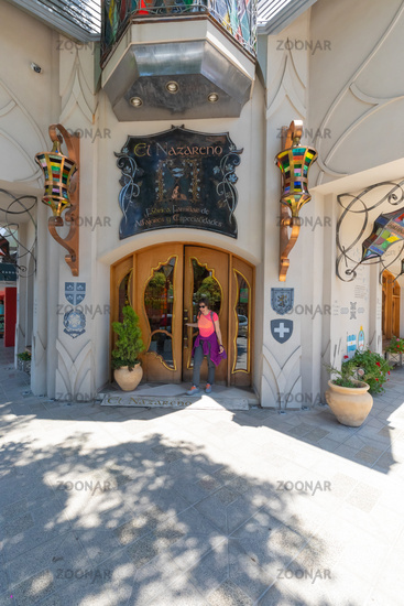 Argentina Cordoba Villa Carlos Paz famous family factory  of typical sweets entrance