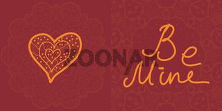 Valentine cards, vector design editable.