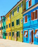Burano island  - Venetian cityscape