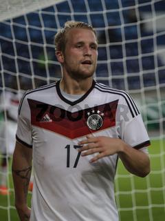 deutscher Fussballer Philipp Hofmann in EM-Quali U21 Deutschland gegen Rumänien am 9.9.14 Magdeburg