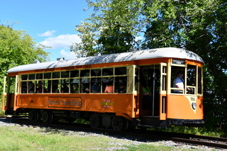 Johnstown Traction Company Trolley No. 358 at Trolley Museum of New York in Kingston, New York