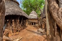 fantastic walled village tribes Konso, Ethiopia