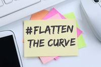 Flatten The Curve hashtag stay at home Coronavirus corona virus doctor ill illness desk