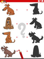 shadow task with funny comic dogs characters